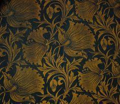 Textile design by C F A Voysey, produced in the 1890s..jpg (960×841)
