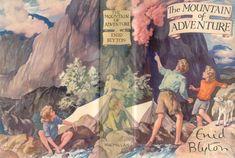 The Mountain of Adventure by Enid Blyton - Wrap around cover art by Stuart Tresilian