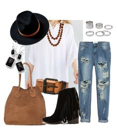 Saturday Stroll by shannonholcombe70 on Polyvore featuring polyvore fashion style BDG One Teaspoon Steve Madden Ippolita Zeus+Dione Linea Pelle