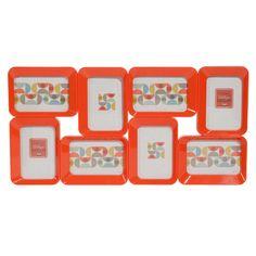 Cadre photo 8 vues orange 33 x 64 cm JEANNETTE
