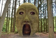 Amazing artworks at Kielder Water - The head!