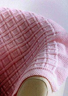 Free knitting pattern for Big Baby Blocks Baby Blanket
