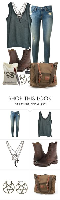 """Supernatural (TV Show) OC"" by ginger-coloured ❤ liked on Polyvore featuring rag & bone, American Vintage, Frye, Pamela Love, Revolver, women's clothing, women, female, woman and misses"