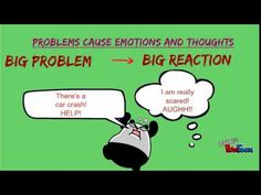 Size of the Problem/Reaction Description Video Good for older kids. Social Skills Lessons, Teaching Social Skills, Social Emotional Learning, Coping Skills, Life Skills, Teaching Respect, Counseling Activities, School Counseling, Group Counseling