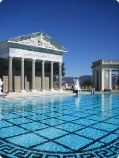 No collection of cool pool pics would be complete without a least a few views of Hearst Castle. Behold the Neptune pool!