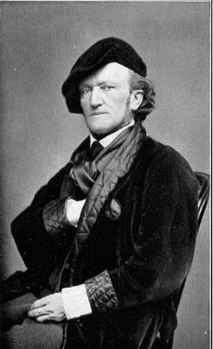 A Portrait of Richard Wagner 1870/'s Vintage Classical Music and Opera Poster