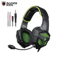 Computer Stereo Gaming Headphone casque SADES SA807 3.5mm Wired Game Headset with Microphone Mic for PC Gamer