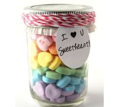 Homemade Valentines Day Gifts in a Jar - Sweetheart in a Jar - DIY Valentines Day Ideas