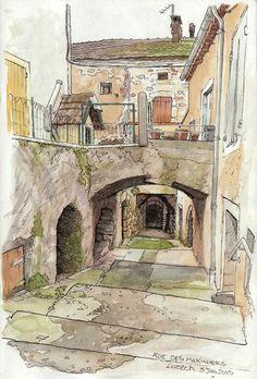 Luzech, rue des mariniers | Une bien petite rue qui se gliss… | Flickr - Photo Sharing!