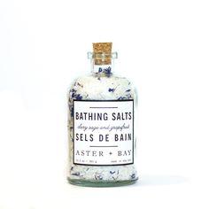 Sels de bain sauge sclarée   pamplemousse | Aster