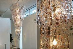 DIY glasses chandelier