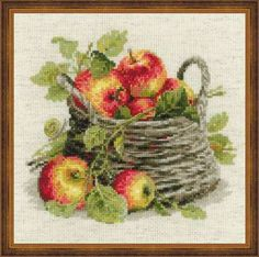 click here to view larger image of Ripe Apples (counted cross stitch kit)