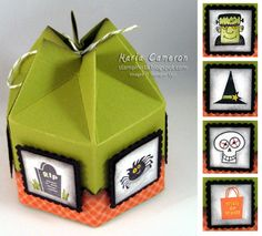Halloween Hex Box - cute design for any box, ect. (pattern on bottom then different stamps for sides)