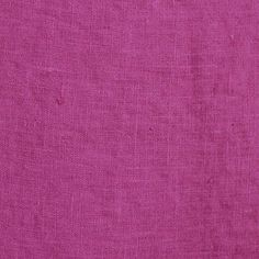 Linen Fabric  Magenta  Linen by the Yard  Washed Linen  Interior designer? Send us a message for information on how we work with the trade.  We have developed a softening process that allows our linen to be made into bedding or drapery and is ready for immediate use. It is perfect for drapery, bedding, and light upholstery projects.  Our linen is a medium weight with subtle natural variations in the weave.  Lead time: Approximately 12 days to date of shipment  Fabric Details:  Magenta Linen…