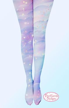 Pastel Galaxy Tights Fairy Kei Space Kawaii Pastel Stockings Lolita Pastel Galaxy Stars universe Size XS Through *Made 2 Order* – Galaxy Art Grunge Look, Style Grunge, Soft Grunge, 90s Grunge, Grunge Outfits, Harajuku Fashion, Kawaii Fashion, Lolita Fashion, Cute Fashion