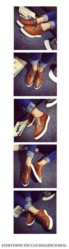 Platform Oxford Shoes - Hipsole | YESSTYLE