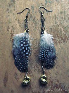 Vera Indigo Jewelry // Feather & Ammonite Earrings