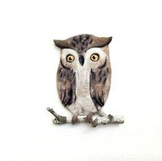 OWL Wet Felted wall panelsinterior decoratio felt by MSbluesky