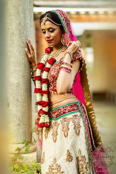 Indian wedding clothes, Indian wedding hair and makeup, Indian bride, Photo by:Osman Ghani