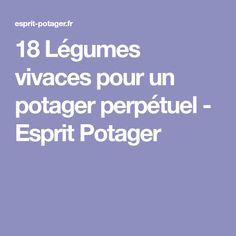 18 Légumes vivaces pour un potager perpétuel - Esprit Potager Fruit, Lawn And Garden, Spirit, Good Ideas, Plant
