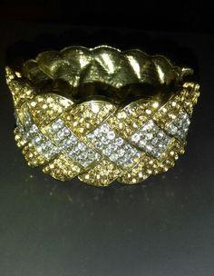 VINTAGE SPARKLING stunning! CRYSTAL RHINESTONE DECO STYLE CUFF BRACELET hinged   Jewelry & Watches, Vintage & Antique Jewelry, Costume   eBay!
