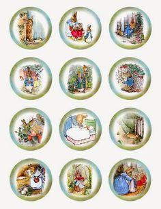 Imprimolandia: Vintage Peter Rabbit Cupcake Toppers
