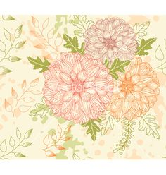 Free seamless floral pattern vector by sticknote on VectorStock®