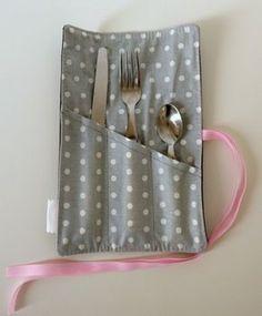 Etui à couverts enduit pour lunchbox                                                                                                                                                                                 Plus