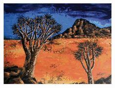 Richtersveld landscape-Acrylic on board
