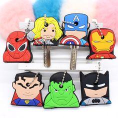 Big size super hero Marvel Cartoon Key Cover batman Hulk Keychain Silicone iron man Holder porte clef Ring Superman cap chain  #L09582 #backpack #kids #Happy4Sales #shoulderbags #handbags #YLEY #fashion #bag #WomenWallets #bagshop #highschool  #NewArrivals