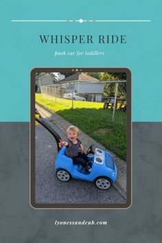 """[Ad] Although the """"Whisper Ride"""" doesn't whisper (on the contrary!), it has been our faithful companion for almost three years now on long and short trips into the neighborhood. Kiddo loves to ride on it and uses the two cup holders for his salty snacks and his water bottle and the storage space under the hood for his sand toys or leaves he finds. He shares it willingly with the kids from the neighborhood, because the others come begging for a ride. Sand Toys, Salty Snacks, How To Have Twins, Short Trip, Cup Holders, Toot, Toddler Toys, Whisper, Trips"""