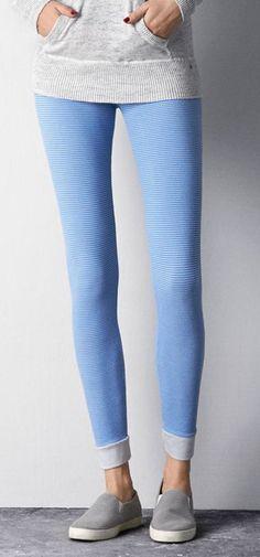 Blue Stretchy Leggings