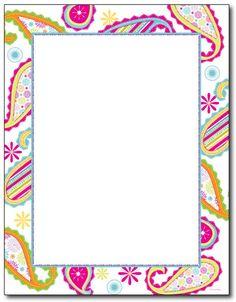 Patterned Paisley Letterhead - 80 Sheets