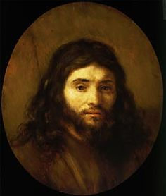 """Jesus said: """"Look at the birds of the air; they do not sow or reap or store away in barns, and yet your heavenly Father feeds them. Are you not much more valuable than they? Who of you by worrying can add a single hour to his life?"""" Matthew 6: 26-27.....The painting: Head of Christ by Rembrandt van Rijn (Dutch 1606-1669)"""