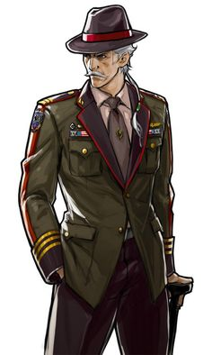 advance wars advance wars: days of ruin beard facial hair forsythe forsythe (advance wars) highres hiroaki (kof) male focus official art solo uniform - Image View - Game Character Design, Character Design References, Character Design Inspiration, Character Art, Advance Wars, Anime Uniform, Valkyria Chronicles, Man Anatomy, Anime Military