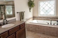 Master bathroom tub tile