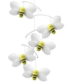 Bumble Bee Mobiles Nylon Hanging Smiling Bumblebees Mobile - Baby Nursery Girls Bedroom Ceiling Hanging Room Decor Honey Bees on Etsy, $17.95