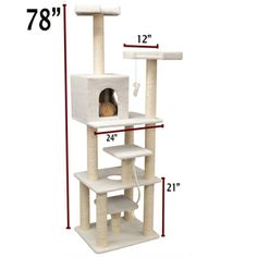 78-inch Bungalow Cat Furniture Tree Condo | Overstock.com Shopping - The Best Prices on Majestic Pet Products Cat Furniture
