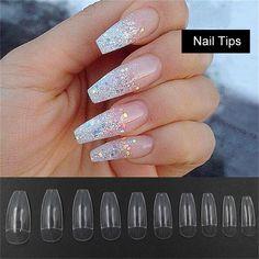 3.0AUD - 100/500Pcs Diy Nail Art Tips False Ballerina Nails False Cover Coffin Shape #ebay #Fashion