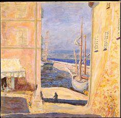 Pierre Bonnard, View of The Old Port, Saint-Tropez. 1911, oil on canvas. Metropolitan  Museum of Art.