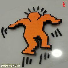Keith Haring lego art
