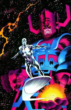 Silver Surfer & Galactus by John Buscema