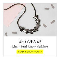 Hooray! We are now selling our jewels at @graziashop   #stockist #johnandpearl #grazia #graziashop #jewellery #jewelry #necklace #gunmetal #hematite #pendant #arrow #minimal #swarovski #chain #silver #shop #valentines #cupid #girlfriend