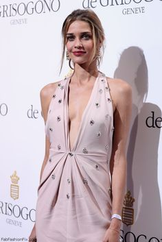 Ana Beatriz Barros wearing Blumarine pale pink gown the De Grisogono Party during the annual 69th Cannes Film Festival. #cannes #festivaldecannes
