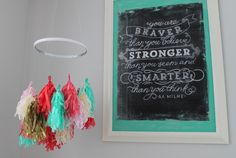 My Sister's Suitcase: DIY Tissue Tassel Mobile + Nursery Reveal!
