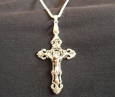 Old Roman Grafting Pattern Silver OR Gold Cross & Diamond Cut Chain  and my fav i won also
