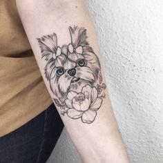 Bone Tattoos, All Tattoos, Tattoos For Women, Tattos, Tattoo Mama, Puppy Tattoo, Tatto Ink, Sibling Tattoos, Rabbit Tattoos