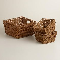 One of my favorite discoveries at WorldMarket.com: Brown Betty Coin Weave Baskets