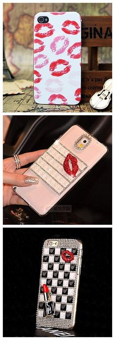 Kisses and lipstick phone cases! Perfect for fashion girls! Get them and shine on the street!