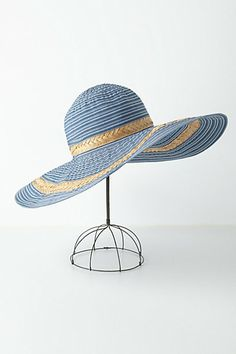 Great hat, especially as its still Hot out there. Rippling Ribbon Floppy #anthropologie #anthrofav
